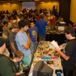 Nintendo Okie was there, giving away prizes for answering trivia questions.