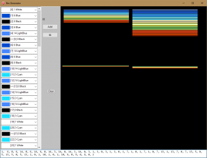BarGen, a quick and dirty tool to visualize color patterns for the raster bars.