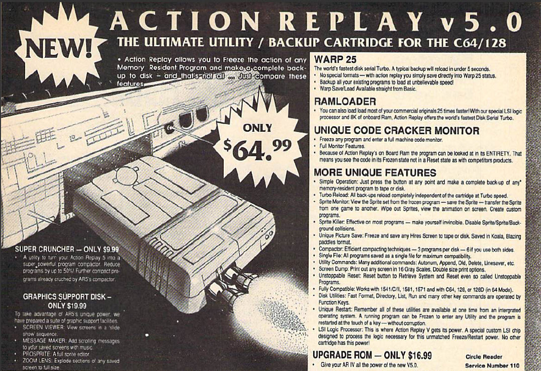 Action Replay 5 Advertisement