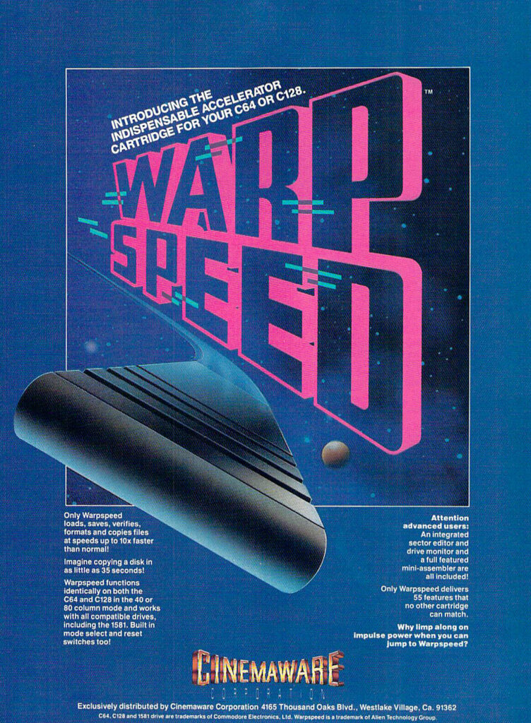 Cinemaware Warp Speed magazine advertisement